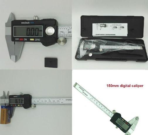 paquímetro digital ou analógico de alta qualidade e precisão.