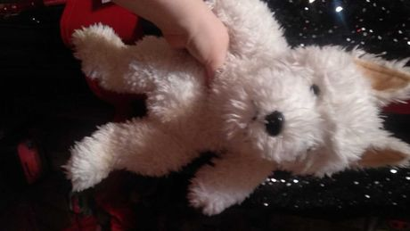 игрушка вайт терьер белая крупная собака white terrier