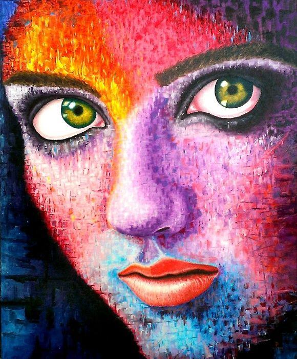 Retrato/Pinturas/Quadros por encomenda através de foto
