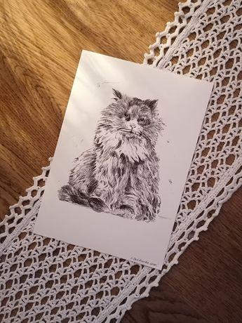 Kot rysunek ręczny, grafika