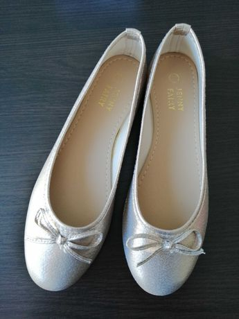 Buty baleriny złote rozm 38 jak nowe