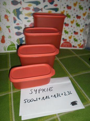 zestaw pojemników na produkty sypkie z Tupperware,nowy