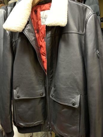 Продам чоловічий шкіряний пуховик Moncler /мужской кожаный пуховик