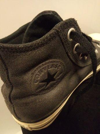 Buty trampki tenisówki Converse skóra naturalna czarne 38 39