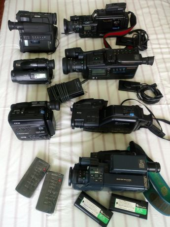 Máquinas de filmar Sony e outras.