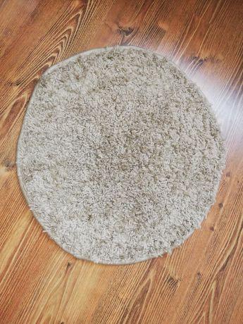 Dywanik okrągły beżowy