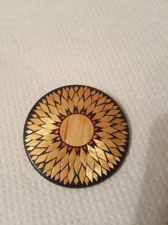 Винтажная брошь брошка значок ссср орнамент