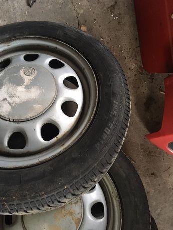 Opony 185 60 r 14 Dębica 4 szt całe koła z felgami VW Opel Skoda seat