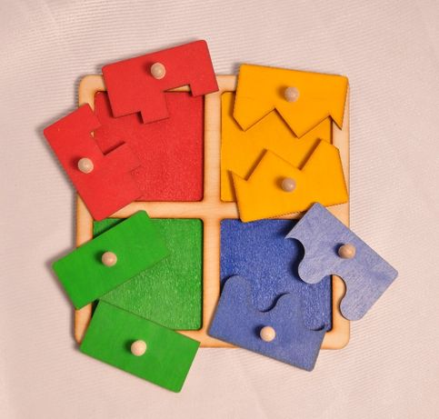 Układanka kwadraty Montessori