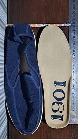 Замшевые новые макасины, 43 размер, синие
