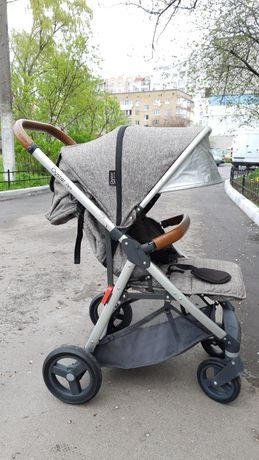 Прогулочная коляска Oyster Zero серый меланж