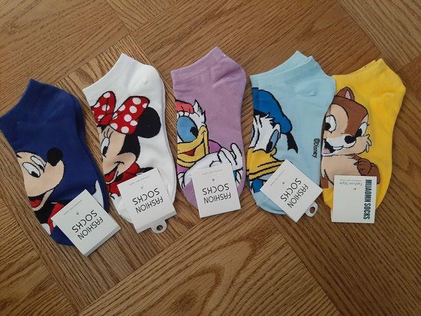 Bawełniane Skarpetki Stopki Disney Mickey Mouse Kaczor Donald Bajka