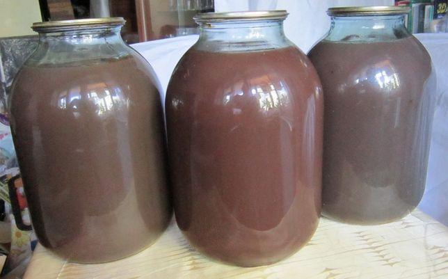 Виноградный сок. Домашний, натуральный. В 3-х литровой банке