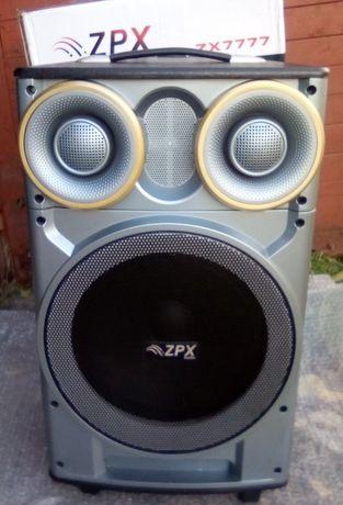 "ZPX акумуляторная активна колонка 12""+блютуз+радиомикрофон+пульт ДУ+FM"