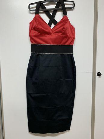Suknia sukienka z cyrkoniami elegancka