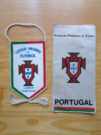 Conjunto 3 galhardetes Federação Portuguesa Futebol e comité olímpico