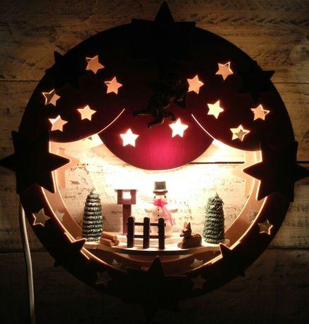 Новогодний светильник, ночник, різдвяний світильник, лампа