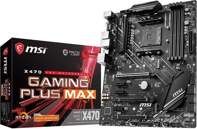 НОВАЯ! Материнская плата MSI X470 Gaming Plus Max AM4, AMD X470 mining