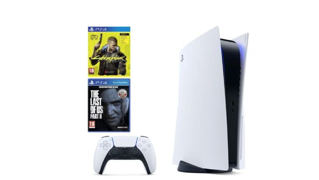 PlayStation 5 + Cyberpunk 2077 + The Last of Us 2