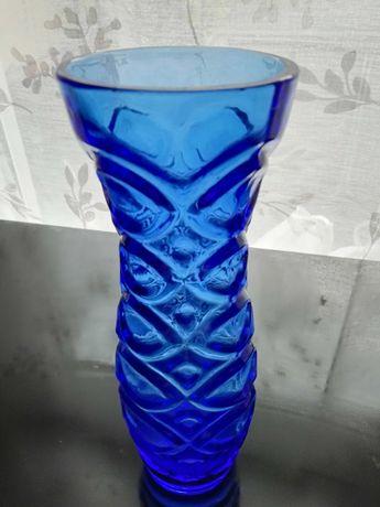 Ząbkowice szkło wazon kobaltowy