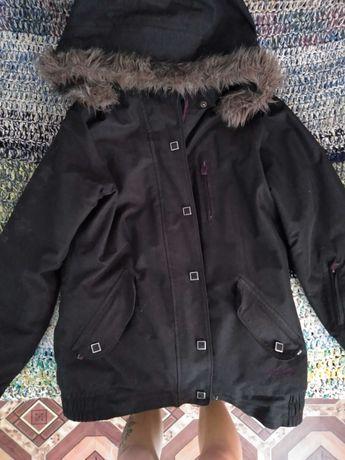 Куртка, цвет мокрого асфальта (серо-черная)