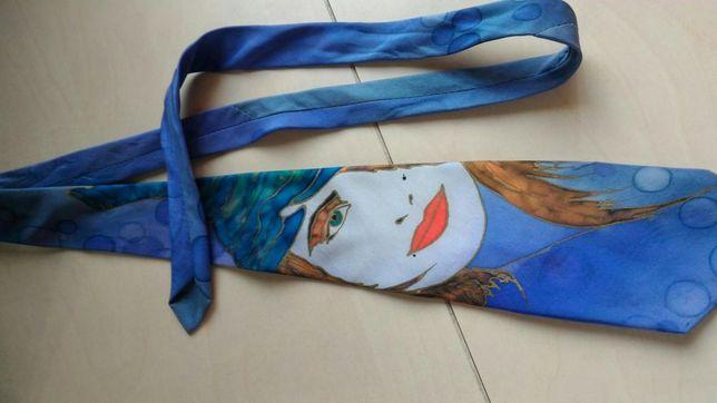 Krawat męski ręcznie malowany
