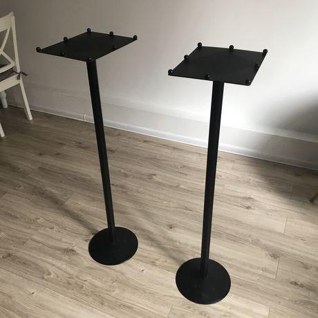 2x statywy stalowe czarne głośnikowe