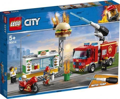 Новый конструктор lego city (пожар в бургерной)