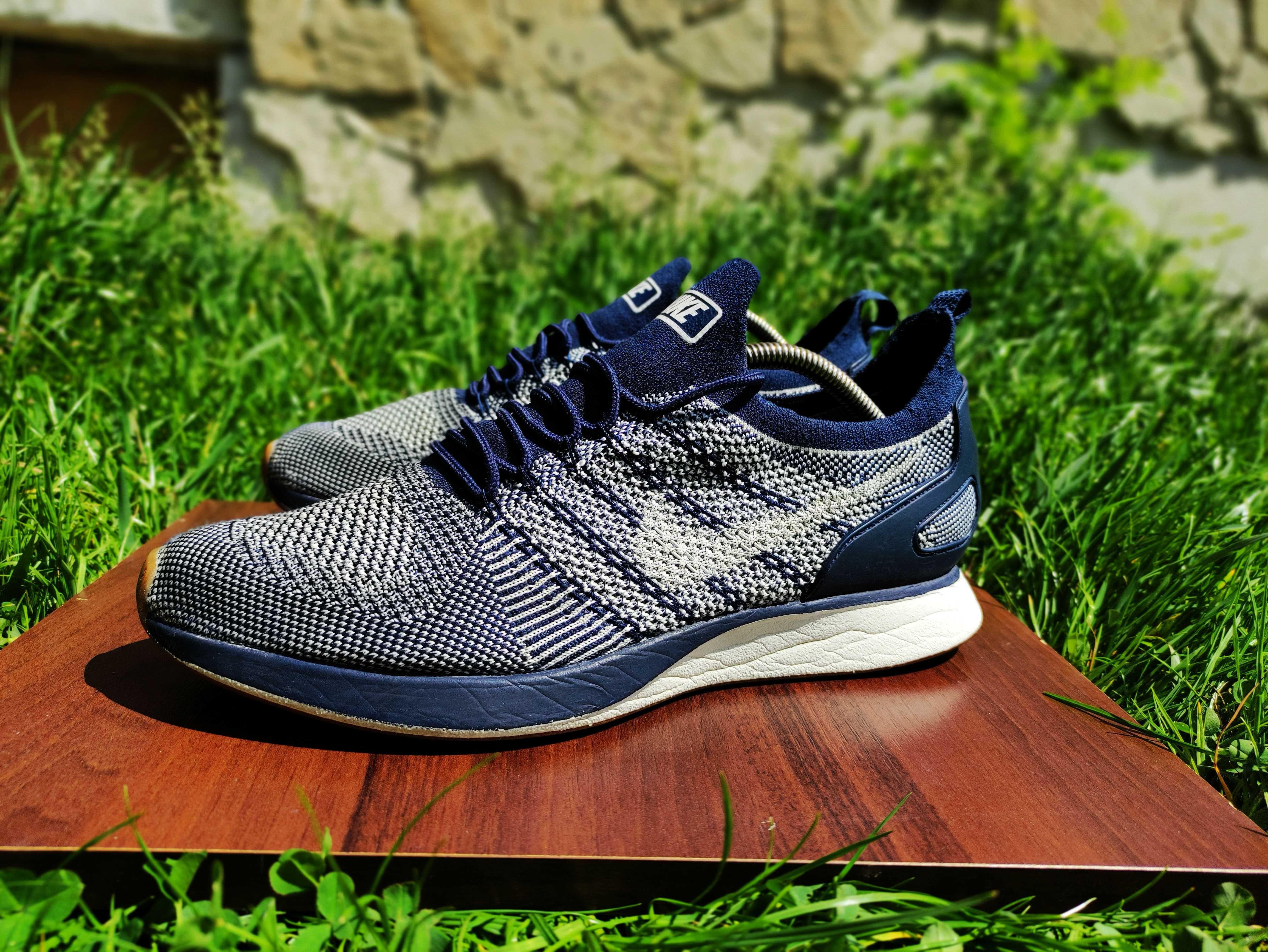Nike Air Zoom Mariah Flyknit Racer Navy  кросівки   кроссовки  45