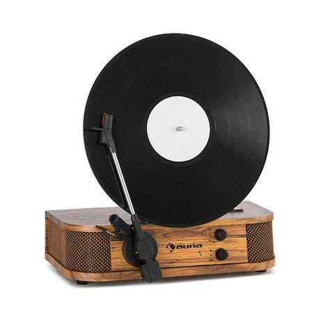 Verticalo SE, gramofon retro, USB, Bluetooth, wyjście liniowe, drewno