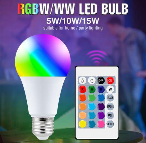 Умная Светодиодная лампа E27 с регулируемой яркостью и цветом