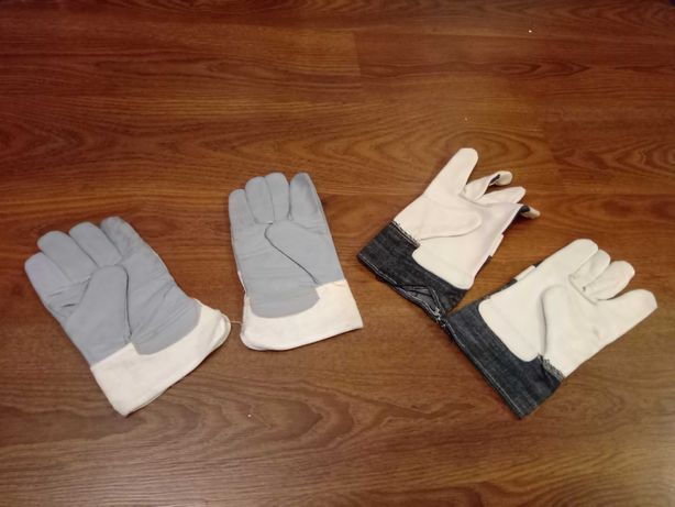 Nowe rękawice robocze skórzane jakość