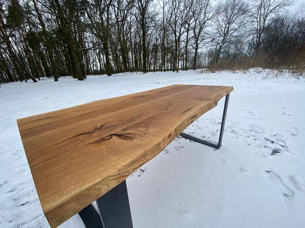 Stół z litego drewna. Dębowy rustykalny