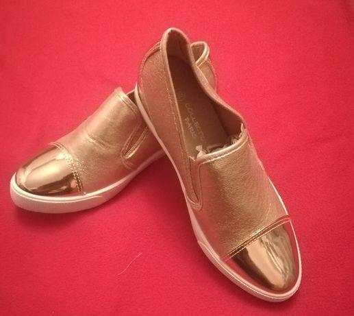 Złote buty. Nowe nigdy nie noszone.