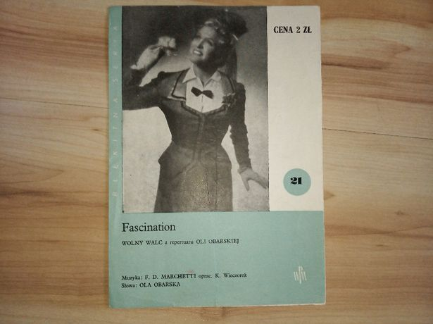 Fascination Wolny Walc Błękitna Seria Słowa Obarska Nuty 1958