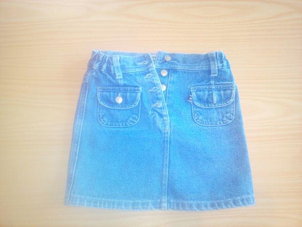 Spódniczka jeans rozm 110 nie