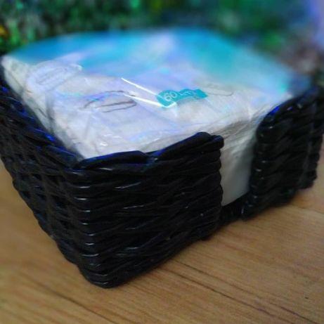 Салфетница из бумажной лозы ручной работы