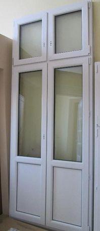Drzwi PCV 112 x 275 - kolor zew.orzech, wew białe - nowe