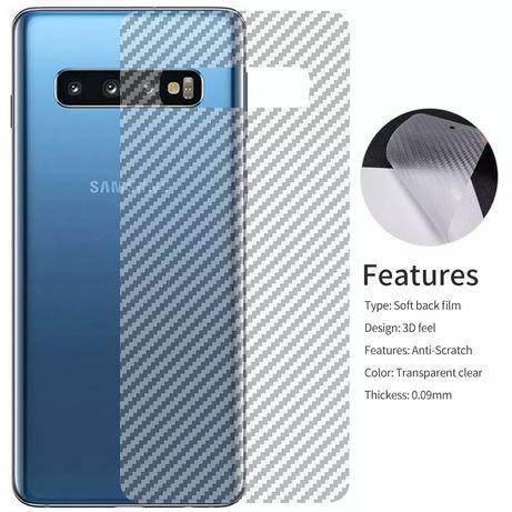 Samsung S8 A70. Huawei mate 20 pro карбон плівка прозрачна