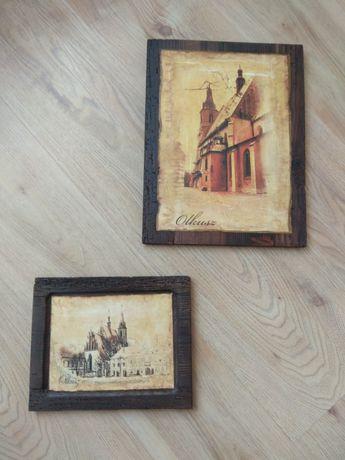 Obrazy na drewnie Olkusz.