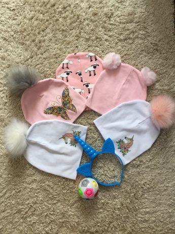 шапочка для дівчаток