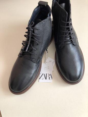 Продам осенние новые подрастковые на мальчика  ботинки Zara