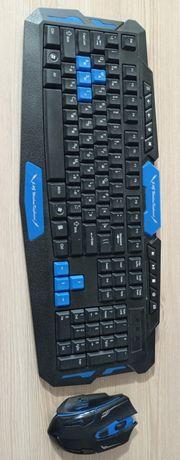 Игровая беспроводная клавиатура + мышка HK8100