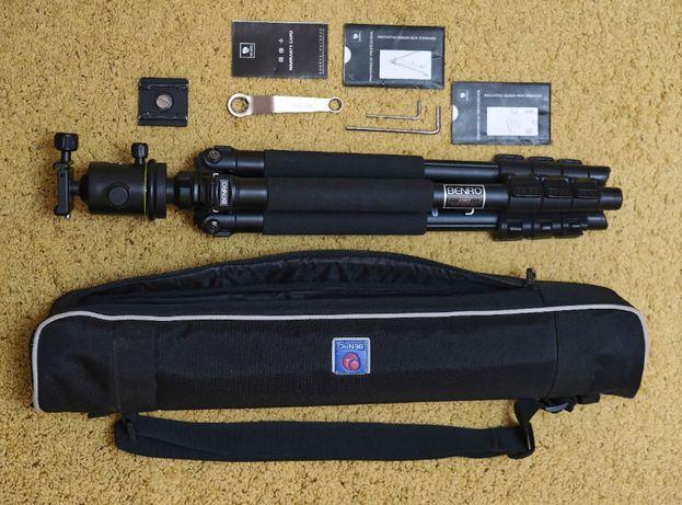 Фотоштатив Benro A-550F+штативная головка KB-1 (A550FKB1)