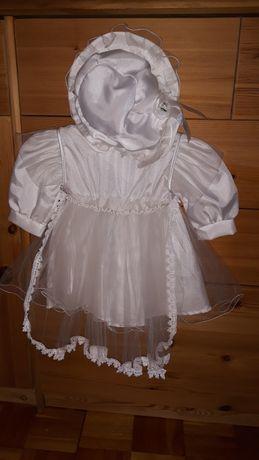 Biała sukienka do chrztu i nie tylko, 62cm
