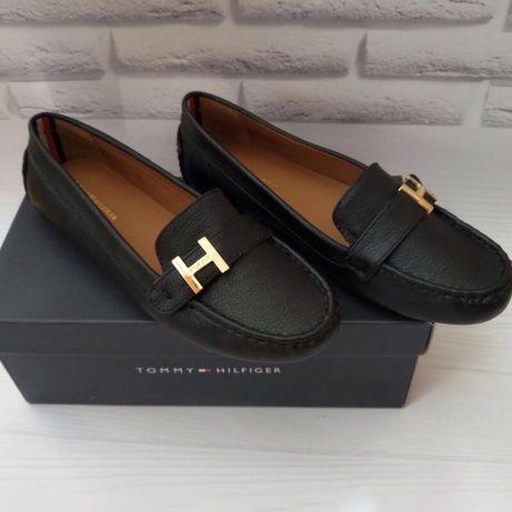 Кожаные туфли Томи хилфигер лоуферы Tommy Hilfiger кожаные мокасины
