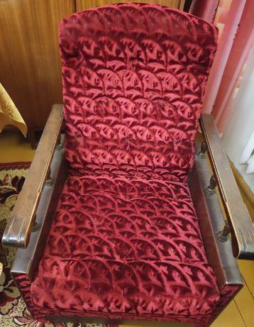 2 fotele - bordowy - uzywana - stan dob