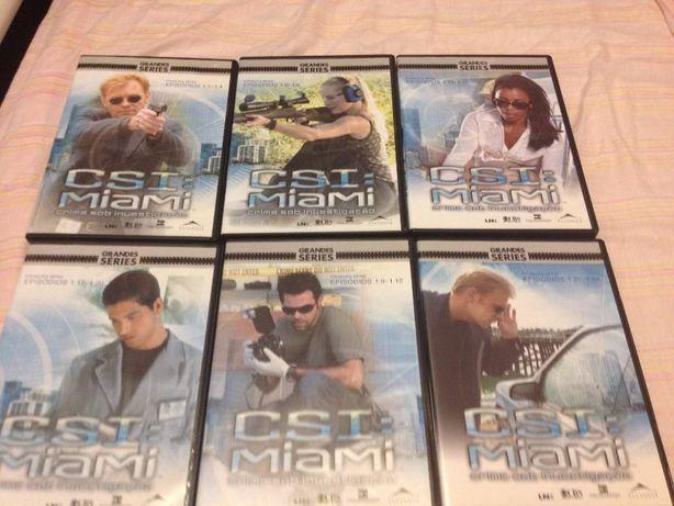DVDs série ''CSI Miami'' 1ª temporada