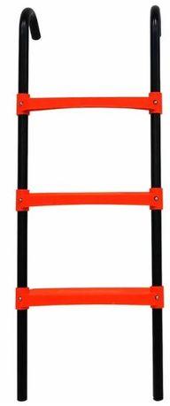 Czarno-pomarańczowa drabina do trampoliny 3 stopnie
