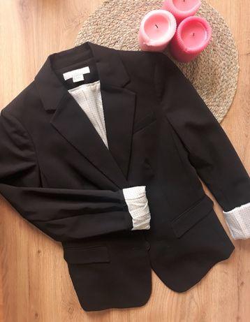 Czarny elegancki żakiet H&M 34/XS
